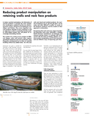 Reducing product manipulation on retainning walls and rock face products with the Split-Impact®